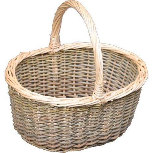 Large Green Willow Hollander Shopping Basket