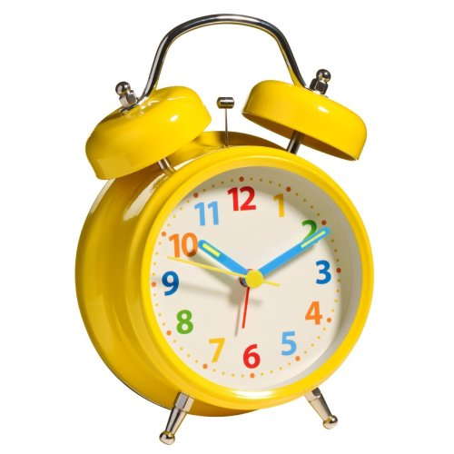 Twin Bell Alarm Clock, Yellow