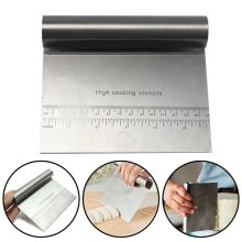Stainless Steel Smoother Edge Cake Scraper Baking Kitchen Flour Pastry Tool UK