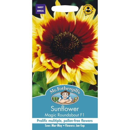 Mr Fothergills - Pictorial Packet - Flower - Sunflower Magic Roundabout F1 - 50 Seeds