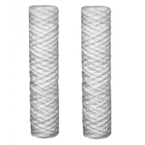 """2x Sediment 10-100um Micron Water Filter Cartridges Fits All 10"""" Reverse Osmosis"""