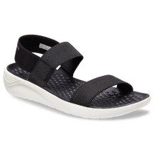 Crocs Women's LiteRide Sandals Shoes - Black/White