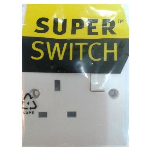 Superswitch SW16 13A DP Switched connection unit Fused bottom flex outlet white