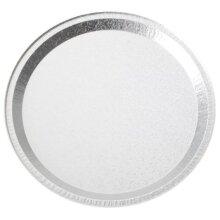 """Disposable Round Aluminium Foil Trays 12"""" ~ 10 Platter"""