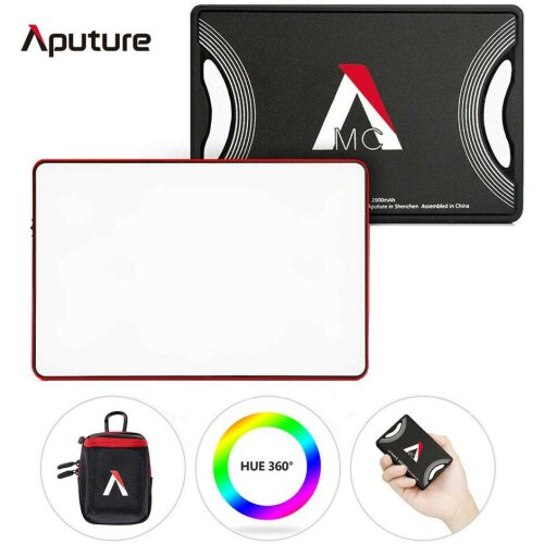 Aputure AL-MC 3200-6500K RGBWW Pocket LED Video Light W/ HSI/CCT/FX