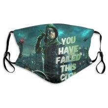 Superhero Green Arrow Face Masks for Adult Youth Reusable
