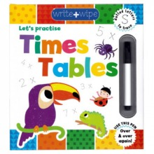 Let's Practise Times Tables Maths Kid's Book With Marker Pen