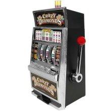 Trademark Global Crazy Diamonds Slot Machine Bank