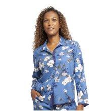 Cyberjammies 4367 Women's Heather Blue Floral Print Cotton Pyjama Top