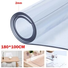 180*100cm Waterproof Transparent PVC Clear Table Protector Tablecloth