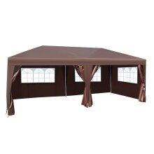 Outsunny 6 x 3 m Garden Heavy Duty Water Resistant Pop Up Gazebo Marquee Party