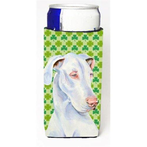 Great Dane St. Patricks Day Shamrock Portrait Michelob Ultra bottle sleeve for Slim Can
