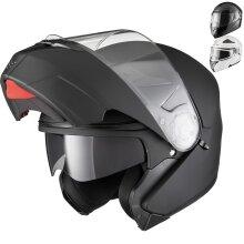 Agrius Fury Flip Front Motorcycle Helmet With Inner Sun Visor