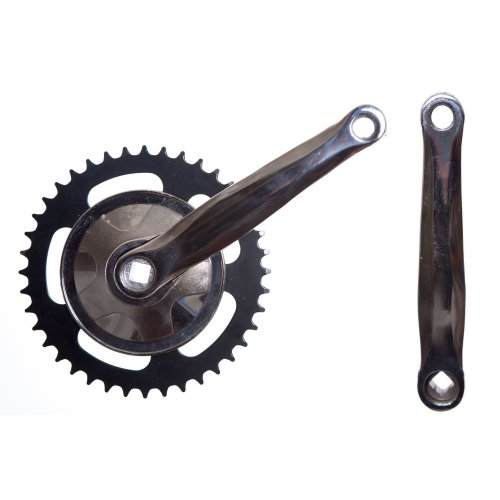 "40 teeth Arm Crank Steel Black Bike Mountain Bike 20/"" Crankset"