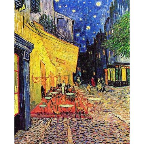 Painting by Vincent Van Gogh - Café Terrace at night - Digital print on canvas - cm. 80x100
