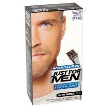 Just For Men M10 Moustache and Beard Facial Hair Color Sandy Blonde