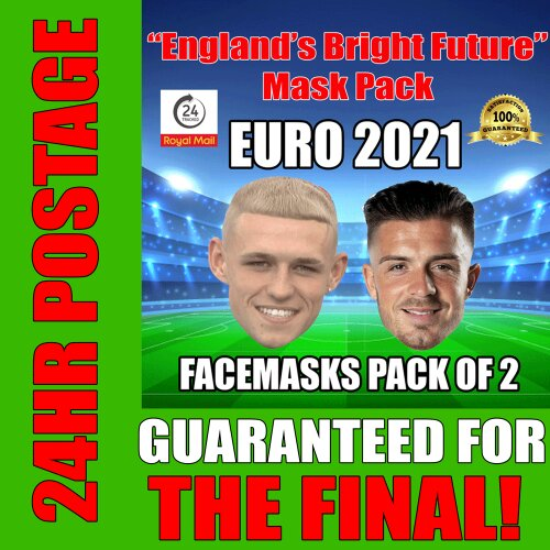 """England's Bright Future"" EURO 2021 Mask Pack FODEN ""GAZZA"", GREALISH"