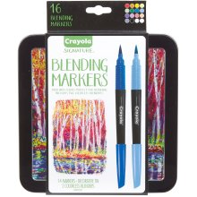 Crayola Signature Blending Markers W/Tin-Assorted Colors 14/Pkg