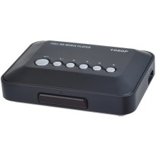 1080P Full HD Media Video Player with AV YPrPb HDMI USB SD MMC Black