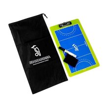 Kookaburra Hockey Tactics Board with Marker in Blue / Lime with Wipe & Bag