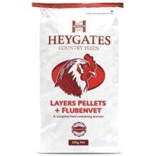 Heygates Poultry Layers Pellets Flubenvet Wormer Farm Feed 20kg