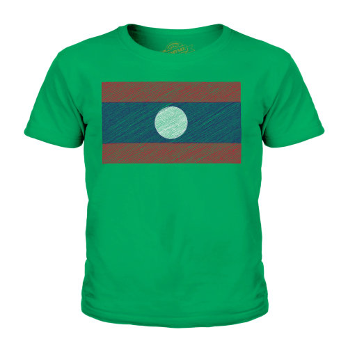 Candymix - Laos Scribble Flag - Unisex Kid's T-Shirt
