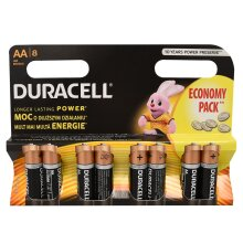 8 x Duracell AA Size Duralock Power Alkaline Batteries MN1500 LR6