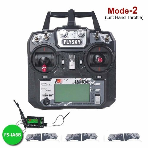 MODE-2 Left Hand Throttle Flysky FS-i6X 10CH Radio Transmitter Flysky ia6B RC Receiver 2.4GHz, AFHDS 2A, RC Transmitter for FPV Racing RC Drone Quadcopter by LITEBEE