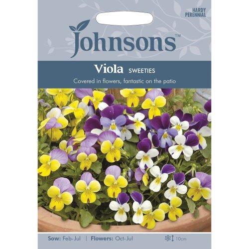 Johnsons Seeds - Pictorial Pack - Flower - Viola Sweeties Mixed - 30 Seeds