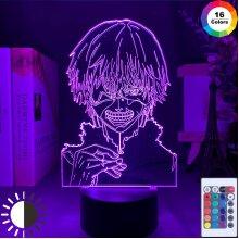 Anime 3d Lamp Tokyo Ghoul Ken Kaneki Bedroom Decor Nightligh