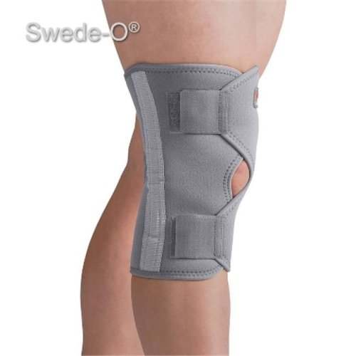 Swede-O 73403 Open Knee Wrap Stabilizer, Gray - Medium