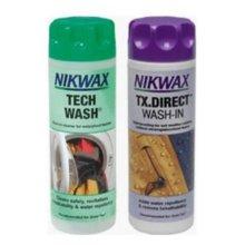 Nikwax Tech wash/TX Direct Clean & Proof Twin Pack (300ml)