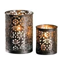 Frank tealight candle holder made of metal paisley