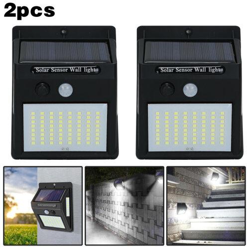 100 LED Outdoor Lights Solar Power Motion Sensor Security Lamps