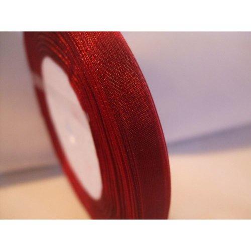 10mm x 50 Yards Organza Ribbon Roll 45 Metres - Green