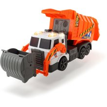 Dickie 203308369 Garbage Tipping Action, Lights & Sound Effects | Realistic Detailed Lorry Toy Dump Truck | for Ages 3+, Orange