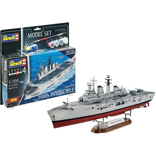 Revell RV65172 Set 1:700-HMS Invincible (Falklands War) Plastic Model kit