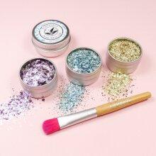 EcoStardust Euphoria Biodegradable Trio-Glitter, Gel, Brush Set
