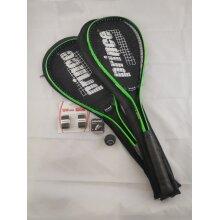 2 x Prince Power Beast Squash Rackets - 2 x Squash Balls - 2 x Wilson Hand Grip - Used