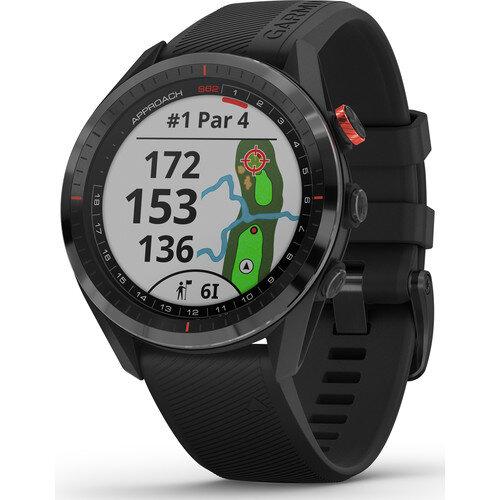 Garmin Approach S62 Sport GPS Smartwatch Black Bezel with Black Band