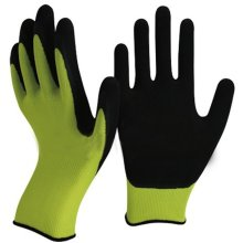 Green and Black Latex Gardening Gloves