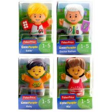 Little People Fisher-Price Set of 4 Figures - Koby, Mia, Eddie and Doctor Nathan - Set 2