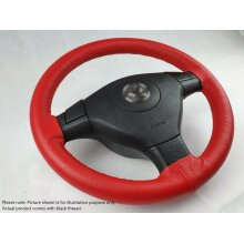 Universal Red Leather Car Steering Wheel Cover DIY Kit For BMW Z3
