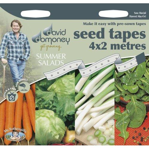 Mr Fothergills - Vegetable - David Domoney Summer Salads Seed Tapes