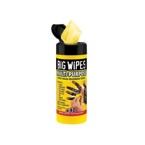 Big Wipes 2019 0000 Black Top Multi-Purpose Wipes Tub of 40