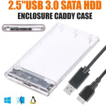External 2.5'' USB 3.0 SATA HDD Hard Drive Caddy Case Enclosure