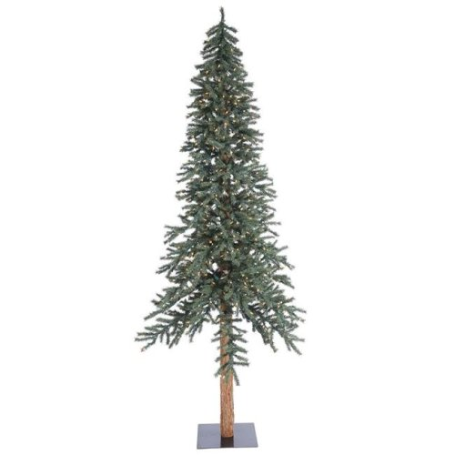 Vickerman B907391LED Natural Bark Dura-Lit Alpine Tree with Warm White LED Lights - 8 ft. x 50 in.