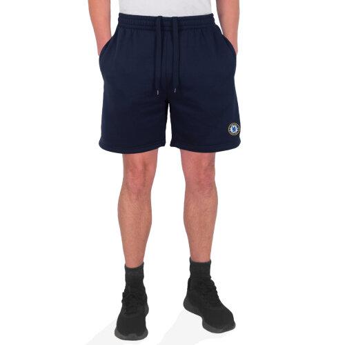 (Navy Blue, Small) Chelsea FC Official Football Gift Mens Fleece Jogger Shorts