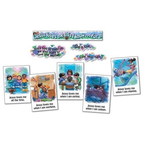 Carson Dellosa CD-3290BN Jesus Loves Me Bulletin Board Set - Set of 2
