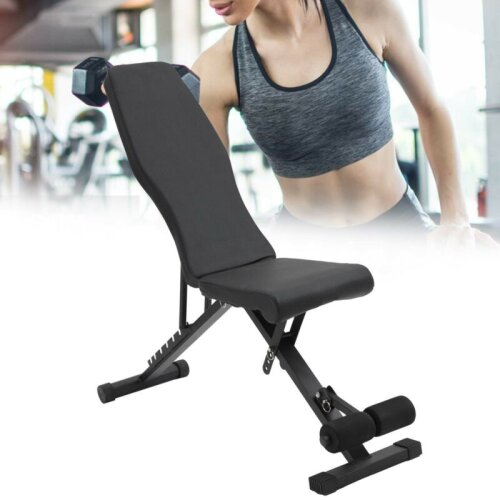 Adjustable Foldable Dumbbell Bench Weight Training Fitness  Workout
